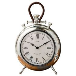 INTERIOR SPACE:: Zegar stojący Orologio srebrny?25cm - srebrny