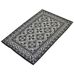 Dywan mały bezowo czarny 180x120 cm