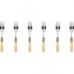 Bugatti aladdin gold - komplet 6 widelczy kolor perłowa kość słoniowa (8020178845991)