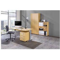 MULTI - Zestaw mebli do biura,1 stół, 1 regał, 1 kontener na kółkach, 1 szafa na akta z obrotowym krzesł