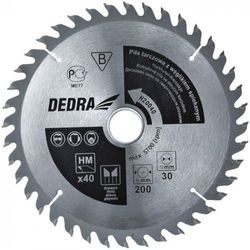 Tarcza do cięcia DEDRA H20040 200 x 30 mm do drewna HM - produkt dostępny w ELECTRO.pl
