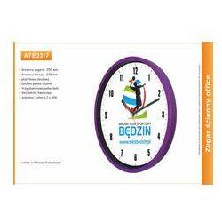 Zegar reklamowy 10' fiolet / 250mm, ATE2317