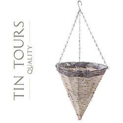 Tin tours sp.z o.o. Zwis wiklinowy / kosz wiszący na kwiaty 30x30x32/68h cm