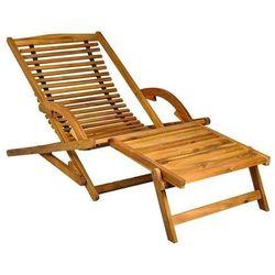 Leżak ogrodowy - drewniany marki Malatec