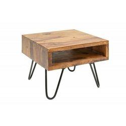 Invicta stolik scorpion 45 cm sheesham - lite drewno, metal marki Sofa.pl