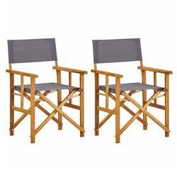 Edinos premium Zestaw krzeseł reżyserskich ogrodowych martin - szare