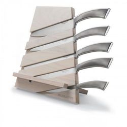 TRATTORIA Blok noży jasne drewno + 5 noży Ergo JASNY BLOK