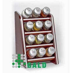 półka z przyprawami 12-el ciemne drewno mat 5901832920281 marki Gald