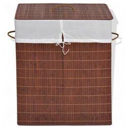 Kosz z bambusa na pranie Lavandi 4X - brązowy, vidaxl_245579