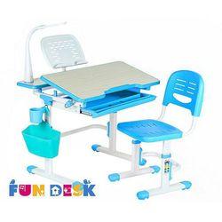 Lavoro blue - regulowane biurko z krzesełkiem marki Fundesk