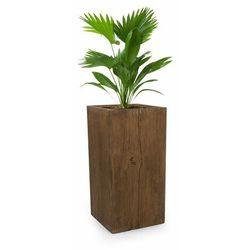 timberflor doniczka na rośliny 40x80x40cm włókno szklane do wewnątrz/na zewnątrz brązowy marki Blumfeldt