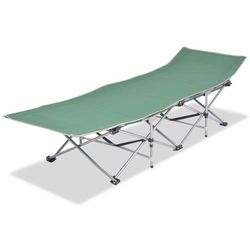 Vidaxl składany leżak, zielony, stal, 186 x 67,5 49 cm (8718475505150)