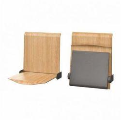 Siedzisko naścienne składane manualne STRAPONTEN TPS1 Twist Plus AllHall dąb naturalny