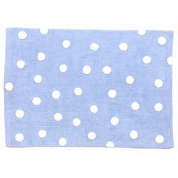 Lorena canals Dywan do prania w pralce - niebieski w białe kropki