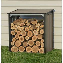 Stalowa drewutnia ogrodowa firewood 1,1 x 0,6 m mocha marki Arrow