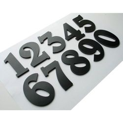 Numer, Numery, Cyfra, Cyfry na drzwi, czarne wys. 7 cm, towar z kategorii: Akcesoria do drzwi