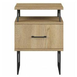 Drewniana szafka nocna z szufladą - Bahama 16X, szafka-nocna
