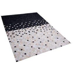 Dywan skórzany czarno-beżowy 140 x 200 cm ERFELEK (4260624115375)