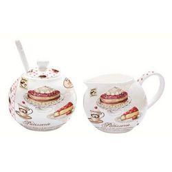 R2s - cukiernica z łyżeczką i mlecznik do kawy