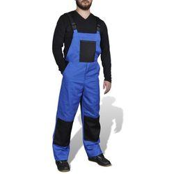vidaXL Męskie ogrodniczki robocze, rozmiar XXL, niebieskie - produkt z kategorii- Pozostała odzież robocza