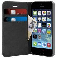 PURO Wallet Case - Etui iPhone SE / iPhone 5s / iPhone 5 (czarny), IPC5BOOKCBLK