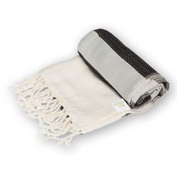 Sauna Łażnia - Hammam Ręcznik 100% Bawełna Anatolian 2 Czarny, 4007-499F7