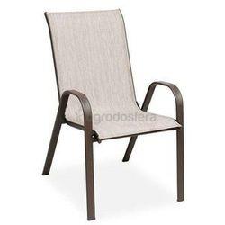 Garden point Krzesło stalowe modena brąz