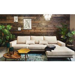 Sofa narożna prawostronna modena beżowa marki 9design