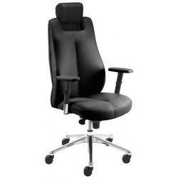 Fotel gabinetowy SONATA lux hrua synchro r15 steel28 chrome - biurowy z regulowanym zagłówkiem, krzes, SONATA LUX HRUA synchro R15 steel28 chrome