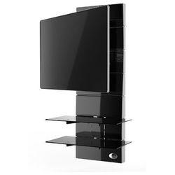 Meliconi Ghost Design 3000 Obrotowy uchwyt z panelem ściennym, wys. 146,4 cm, Czarny - produkt z kategorii- Uchwyty i ramiona do TV