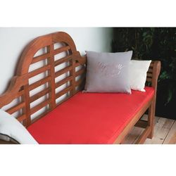 Ławka ogrodowa drewniana 180 cm poducha czerwona TOSCANA Marlboro (4260586359671)