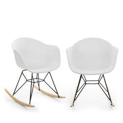 Blumfeldt skandi fotel bujany zestaw 2 sztuk polipropylen biały