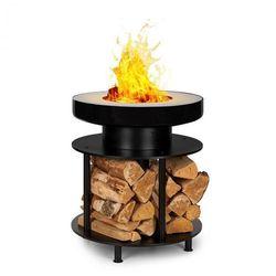 wood stock, 2 w 1, misa paleniskowa, grill-barbecue, Ø56cm, stal nierdzewna, czarna marki Blumfeldt