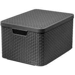Curver poland Koszyk do przechowywania z pokrywą style box l v2 + lid - drg308 ciemnoszary (3253923619010)