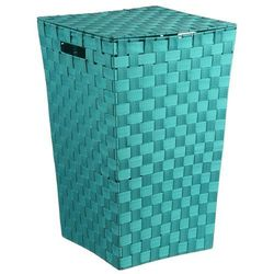 Kosz na pranie, pleciony pojemnik z pokrywką o intensywnej kolorystyce marki 5five simple smart
