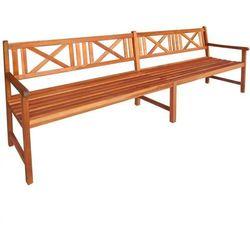 Ławka ogrodowa z drewna akacjowego 240 x 56 x 90 cm, brązowa