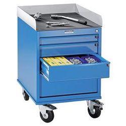 Eurokraft Montażowy wózek pomocniczy, lakierowany proszkowo, z szafką szufladową, dł. x sz