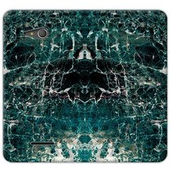Flex book fantastic - sony xperia e4g - etui na telefon flex book fantastic - zielony marmur wyprodukowany prz