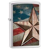 Zapalniczka  gwiazda z flagi, brushed chrome marki Zippo