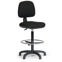 Podwyższone krzesło biurowe MILANO z podnóżkiem - czarne