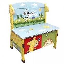 Ławka ze schowkiem Słoneczne safari z kategorii Pozostałe meble do pokoju dziecięcego