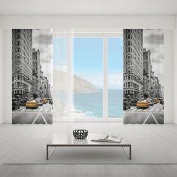 Zasłona okienna na wymiar - YELLOW CABS IN NEW YORK