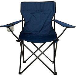 Turystyczne krzesło składane granatowe z miejscem na napoje