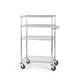 Unbekannt Wózek stołowy z kratą drucianą, z półkami, dł. x szer. x wys. 910x610x1350 mm, 4