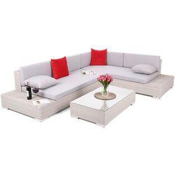 Home&garden Narożnik ogrodowy technorattanowy panama light grey / light grey (5902425324745)