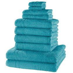 """Bonprix Komplet ręczników """"new uni deluxe"""" (10 części) niebieskozielony morski"""