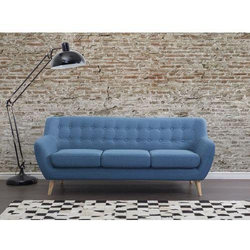 Sofa niebieska - kanapa - sofa tapicerowana - MOTALA, produkt marki Beliani