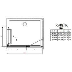 carena dwj drzwi wnękowe jednoskrzydłowe uchylne 110x195 cm 34333-01-01nl lewe od producenta Radaway