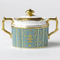 regency turquoise cukiernica z pokrywką marki Royal crown derby