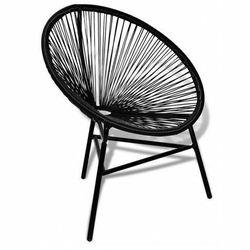 Ażurowe krzesło ogrodowe corrigan - czarne marki Elior